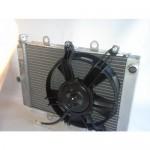 Радиатор в сборе с вентилятором для квадроцикла Yamaha Grizzly 550, 700 07-14г