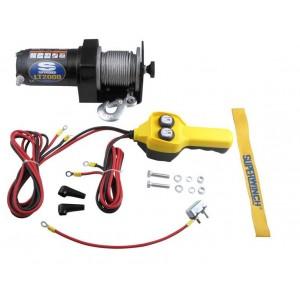 Лебедка LT-2000  (906кг) электрическая 12В с проводным пультом управления