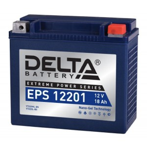 Аккумулятор для мототехники DELTA EPS 12201  (YTX20L-BS, YTX20HL-BS, YB16L-B, YB18L-A)